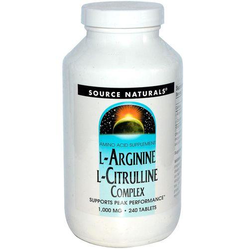 Source Naturals L-Arginine L-Citrulline Complex - 240 ...
