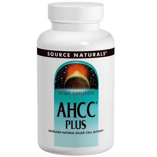 Source Naturals AHCC Plus - 500 mg - 60 Capsules