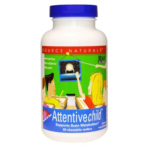 Source Naturals Attentive Child Chewables - 60 Wafers - 7085_front.jpg