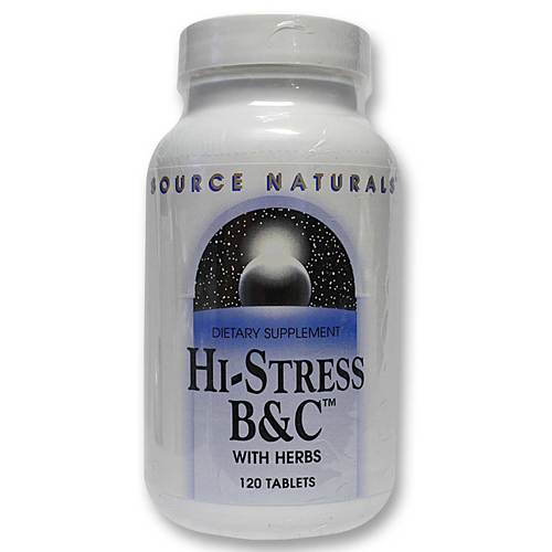 Source Naturals Hi-Stress BC  - 120 Tablets - 09032010_57.jpg