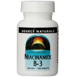 Source Naturals Niacinamide B-3 100 mg