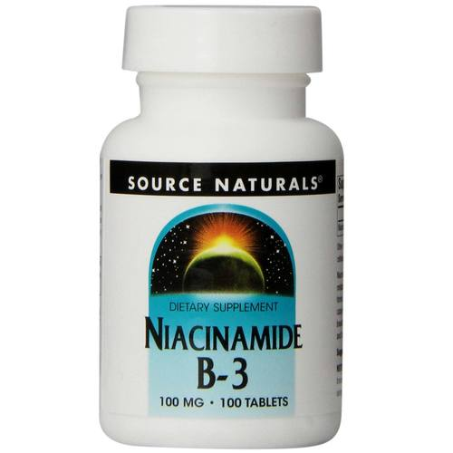 Source Naturals Niacinamide B-3 100 mg  - 100 Tablets - 8135_01.jpg