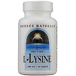 Source Naturals L-Lysine 1-000 mg