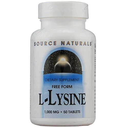 Source Naturals L-Lysine 1-000 mg  - 50 Tablet