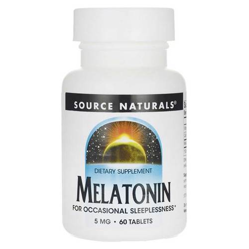 Source Naturals Melatonin 5mg  - 60 Tablet - 82981_front.jpg