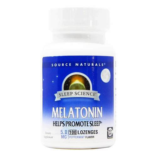 Source Naturals Melatonin Peppermint - 5 mg - 100 Sublingual - 82991_front2020.jpg