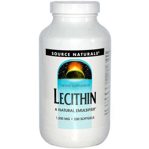 Source Naturals Lecithin 1200 mg - 200 Softgels