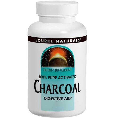 Source Naturals Charcoal 260 mg - 100 Capsules