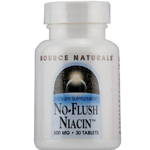 Source Naturals No-Flush Niacin 500 mg - 30 Tablets