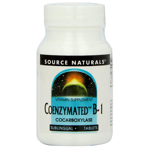 Source Naturals Coenzymated B-1  - 25 mg - 60 Sublingual Tablets