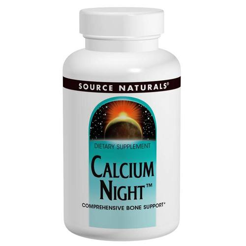 Source Naturals Cálcio Night 300 mg - 60 Tabletes