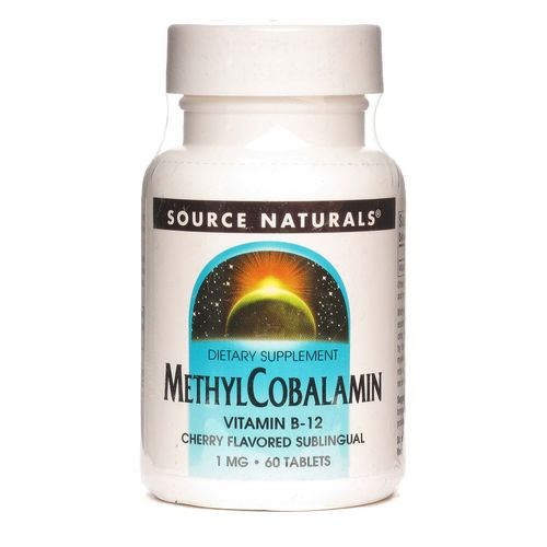 Source Naturals MethylCobalamin Vitamin B12 Cherry - 1 mg - 60 Tablets