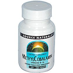 Source Naturals MethylCobalamin Vitamin B12 1 mg