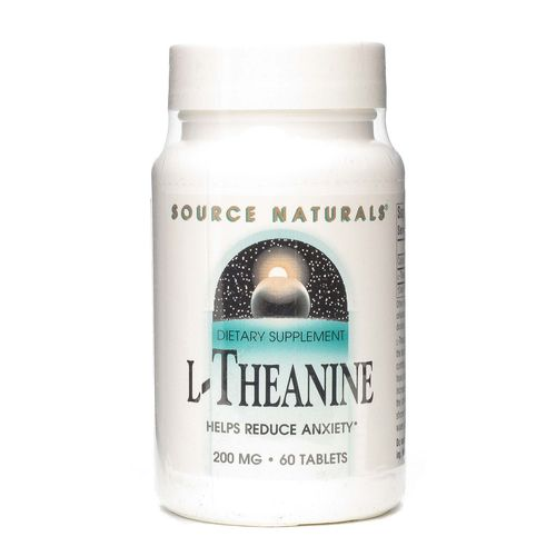 Source Naturals L-Theanine 200 mg  - 60 Tablets