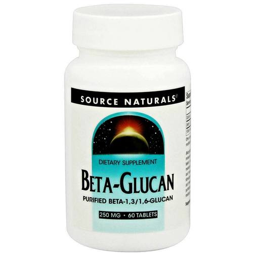 Source Naturals Beta-Glucan  - 250 mg - 60 Tablets - 83361_a.jpg