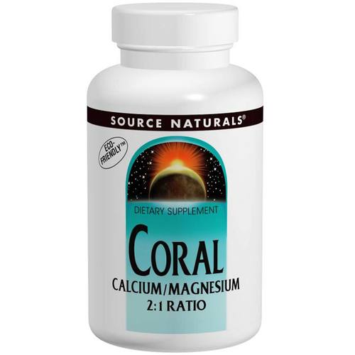 Source Naturals Coral cálcio / magnésio 2:1 180 Tabletes