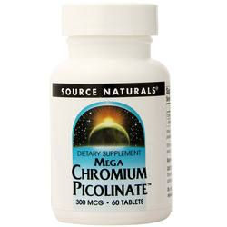 Source Naturals Mega Chromium Picolinate 300 mcg