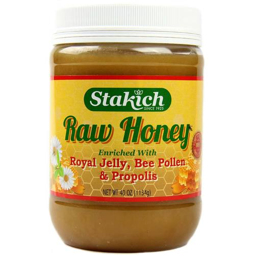 Raw Honey with Royal Jelly, Bee Pollen and Propolis