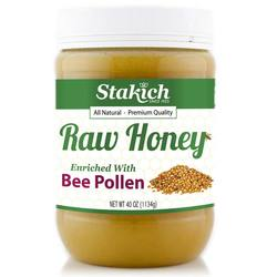Stakich Bee Pollen Enriched Raw Honey