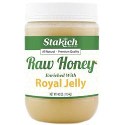 Stakich Royal Jelly Enriched Raw Honey