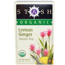 Stash Tea Organic Tea - Lemon Ginger - Green - 18 Bags
