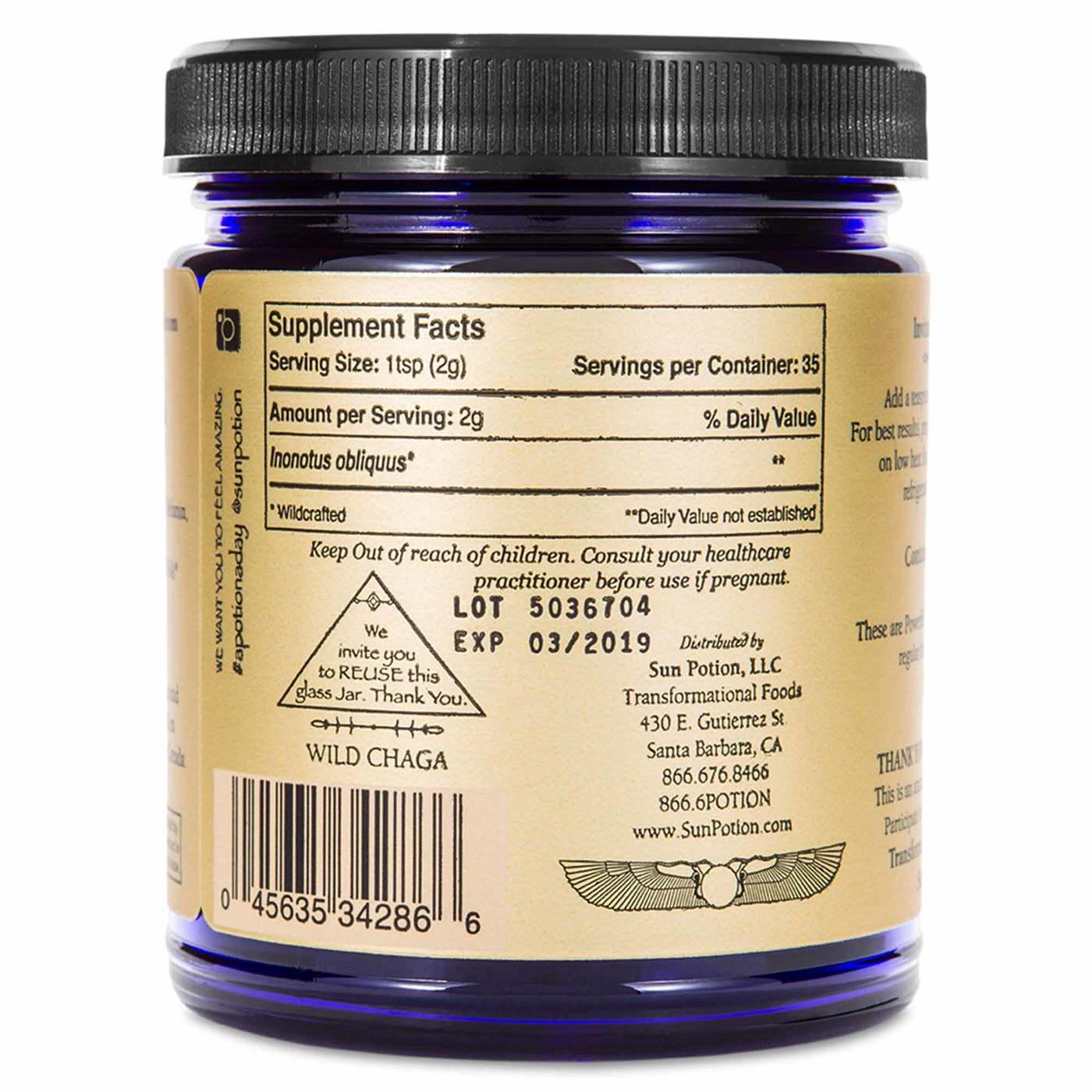 Sun Potion Chaga - 2.8 oz (80 g