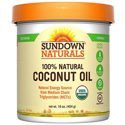 Sundown Naturals Organic Coconut Oil