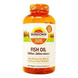 Sundown Naturals Fish Oil Non-GMO