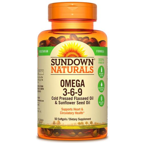Sundown Naturals Omega 3 6 9 Vegetarian 50 Softgels Evitamins