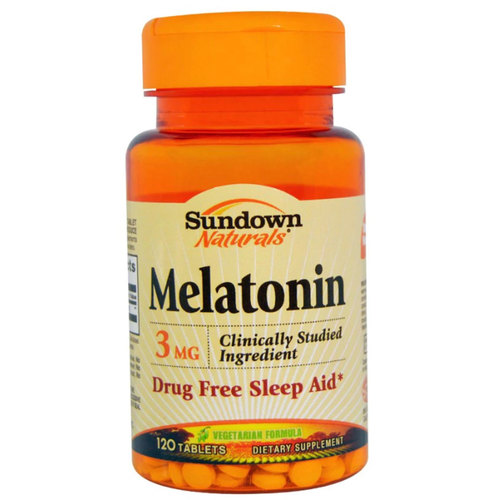 Sundown Naturals Melatonina - 3 mg - 120 Tabletes