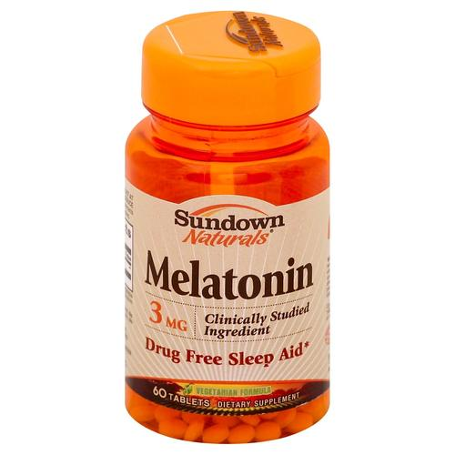 Sundown Naturals Melatonina - 3 mg - 60 Tabletes