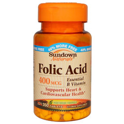Sundown Naturals Folic Acid