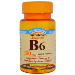 Sundown Naturals High Potency B6