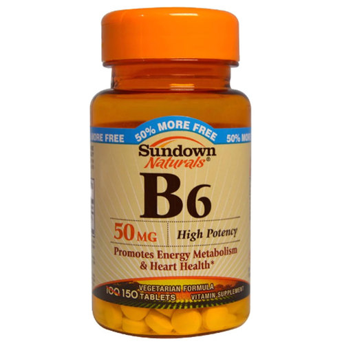 Sundown Naturals Vitamina B6 - 50 mg - 150 Tabletas