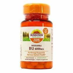 Sundown Naturals Dissolvable B12