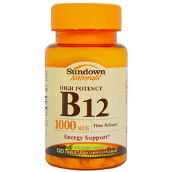Sundown Naturals High Potency B12
