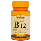 Sundown Naturals High Potency B12 - Timed Release - 1,000 mcg - 120 Tablets