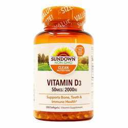 Sundown Naturals Vitamin D3 50 mcg 2,000 IU