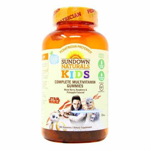 Sundown Naturals Complete Kids Multi비타민s, 스타 워즈 - Mixed Berry, Raspberry & Pineapple Flavor - 180 Gummies - 319782_front2019.jpg