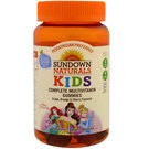 Sundown Naturals Complete Kids Multivitamins - Disney Princess - Grape, Orange and Cherry - 60 Gummies