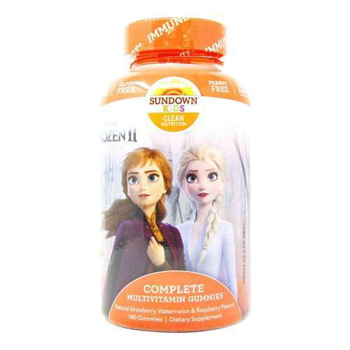 Sundown Naturals Complete Kids Multivitamins Disney's Frozen - Strawberry, Watermelon and Raspberry - 180 Gummies - 319786_front2020.jpg