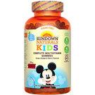 Sundown Naturals Complete Kids Multivitamins - Mickey Mouse - Sugar-Free Grape, Orange and Cherry - 180 Gummies