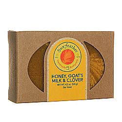 Sunfeather Honey- Goat's Milk and Clover Soap