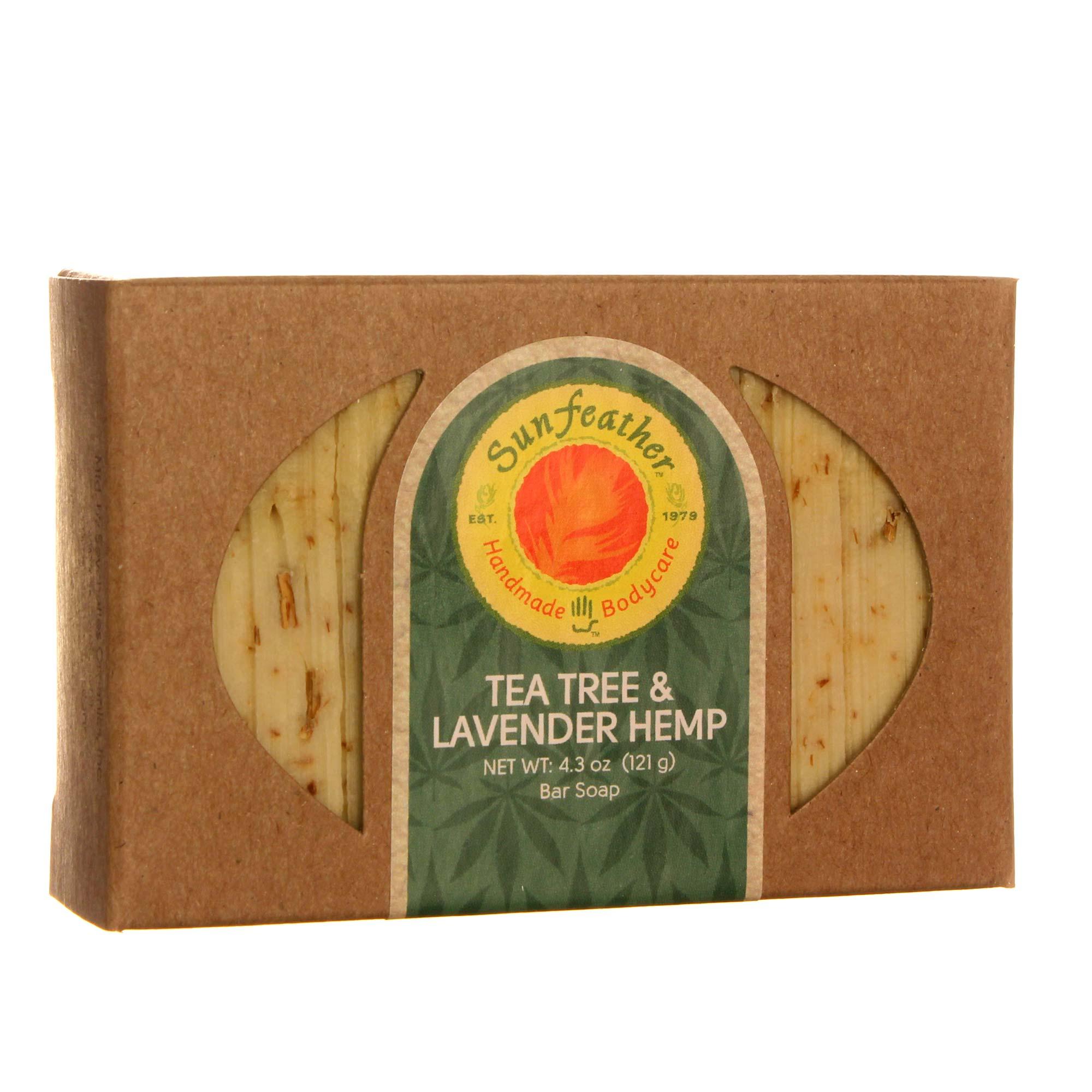 Sunfeather Tea Tree And Lavender Hemp Soap 4 3 Oz Evitamins Com