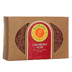 Sunfeather Cranberry Rose Soap
