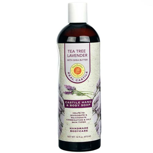 Tea Tree Lavender Liquid Castile Soap with Shea Butter