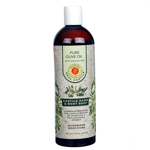 Pure Olive Oil Liquid Castile Soap with Shea Butter