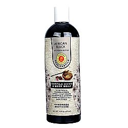 Sunfeather African Black Liquid Castile Soap with Shea Butter