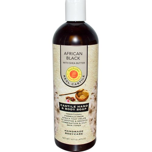 African Black Liquid Castile Soap with Shea Butter