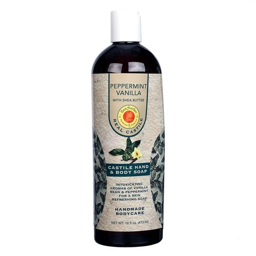 Peppermint Vanilla Liquid Castile Soap with Shea Butter